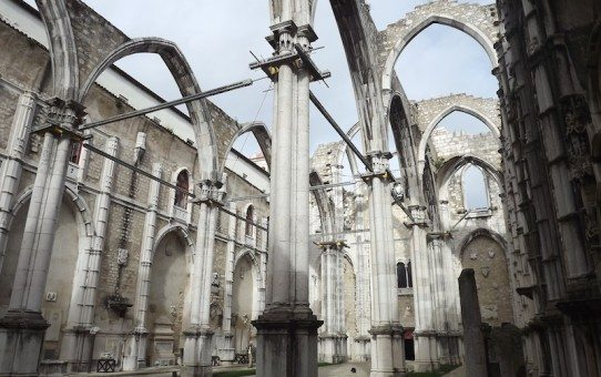 Looking up in Convento do Carmo.