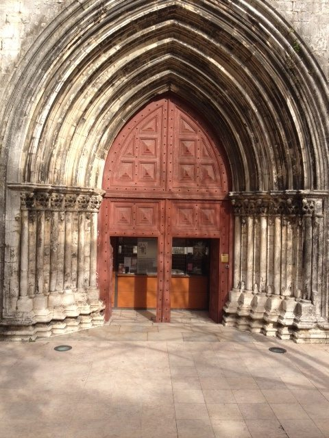 The entrance to the Convento do Carmo.