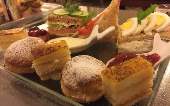 Afternoon tea at the Grand Hotel Continental, Bucharest.
