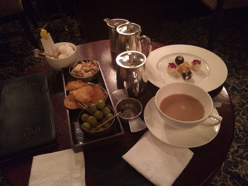 After dinner treats in the American Bar, The Stafford London.