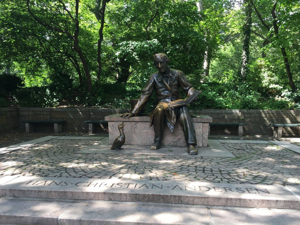 The Hans Christian Anderson statue in Central Park