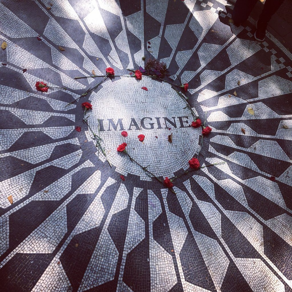 The Imaine mosaic in Central Park