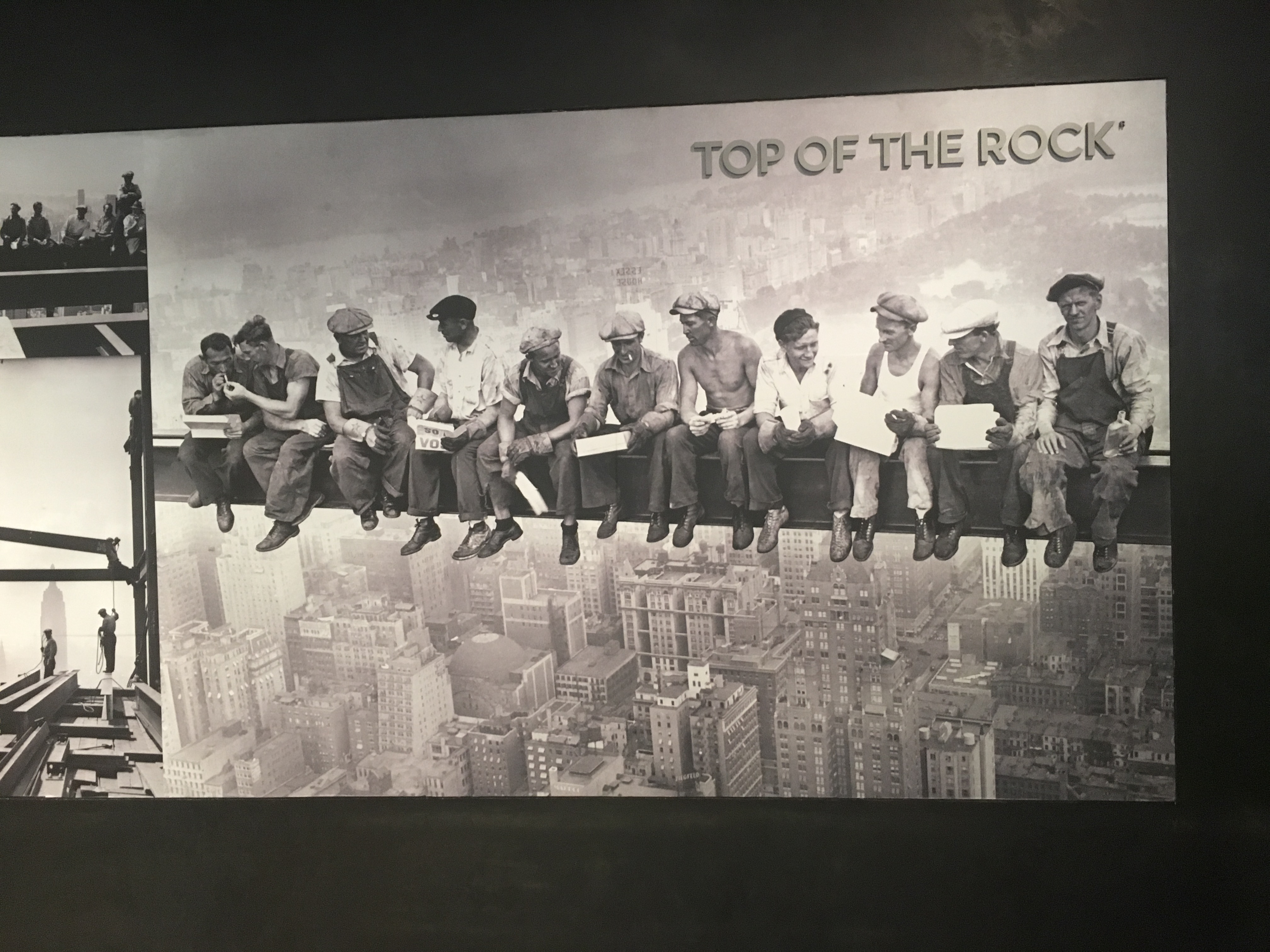 The iconic photo of workmen sat on a bean while building the Rockefeller Centre.