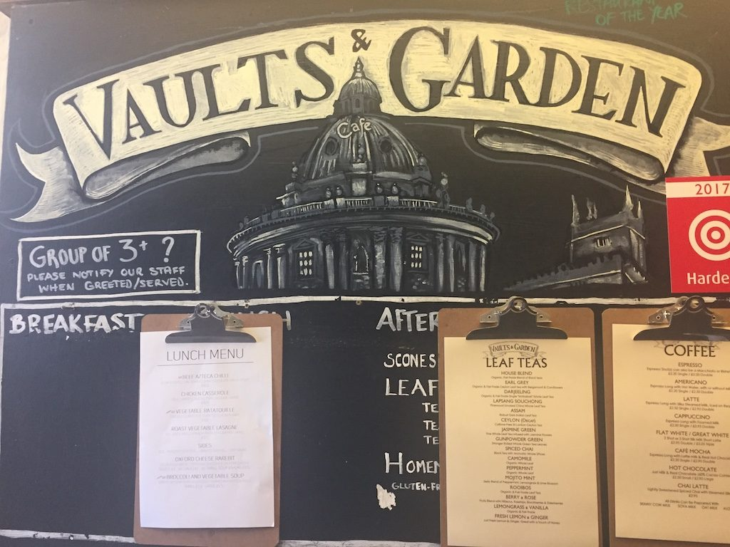 Afternoon Tea at the Vaults and Garden Café, Oxford – A Review