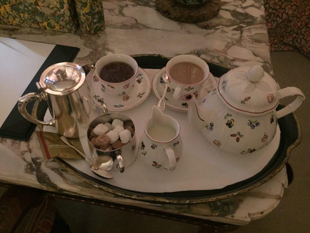 Our complimentary tea