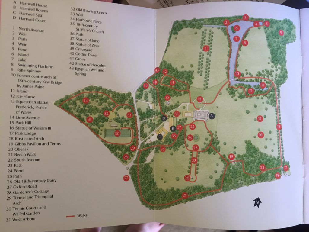 The map of the grounds