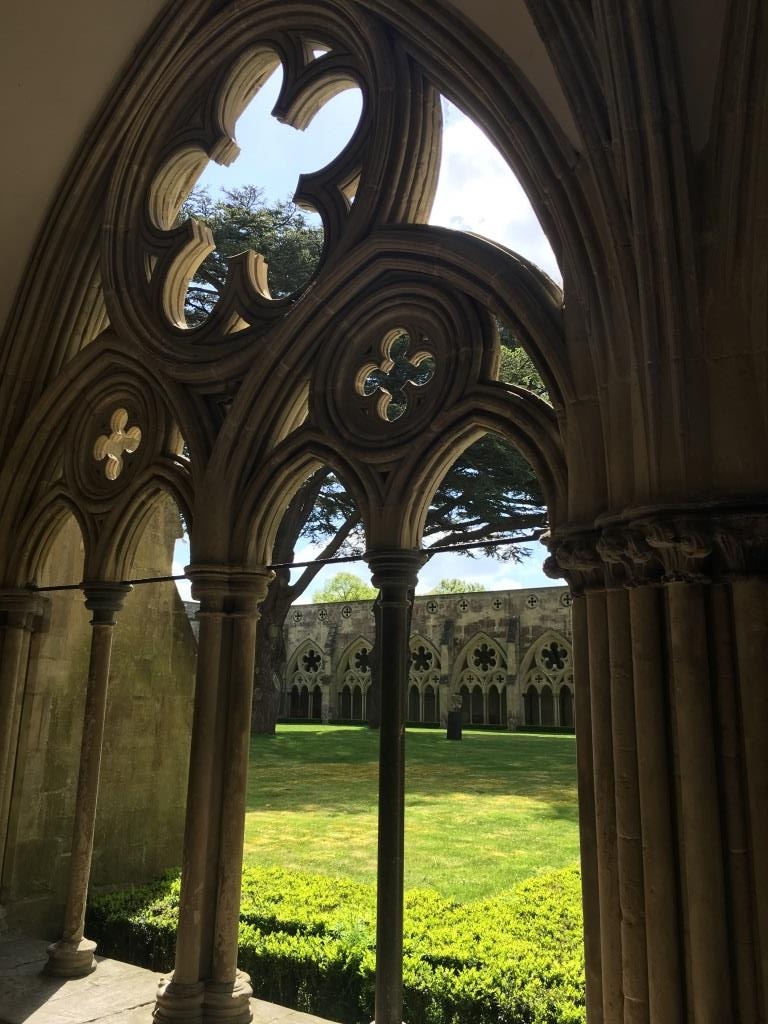 one day in Salisbury - Cloisters at Salisbury Cathedral