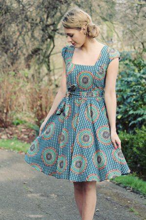 Lady V London's Hippy Print Swing Dress.