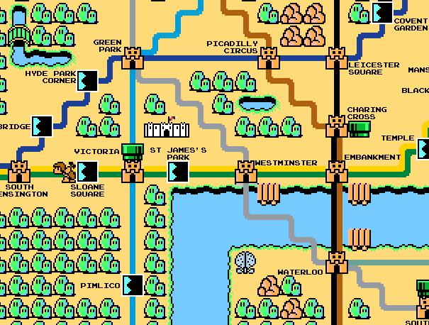 Sprite map of London zone 1