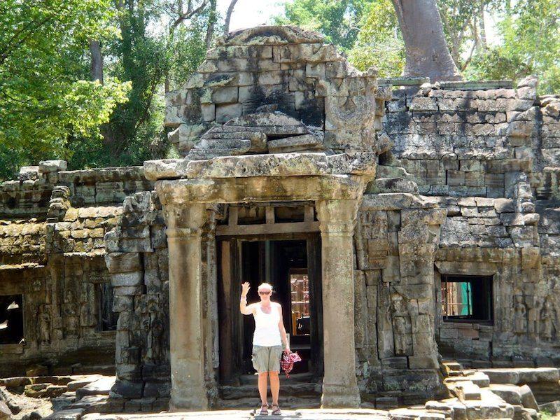 Location independent blogger Deborah at Ankor Wat.