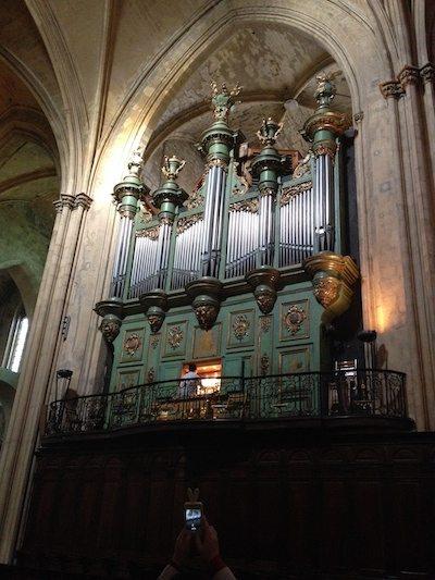 Aix Cathedral's organ.