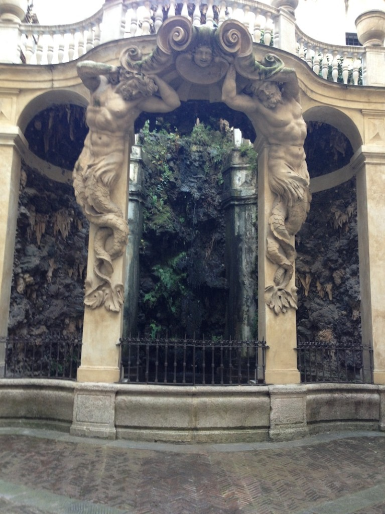 A beautiful fountain in old town Genoa.