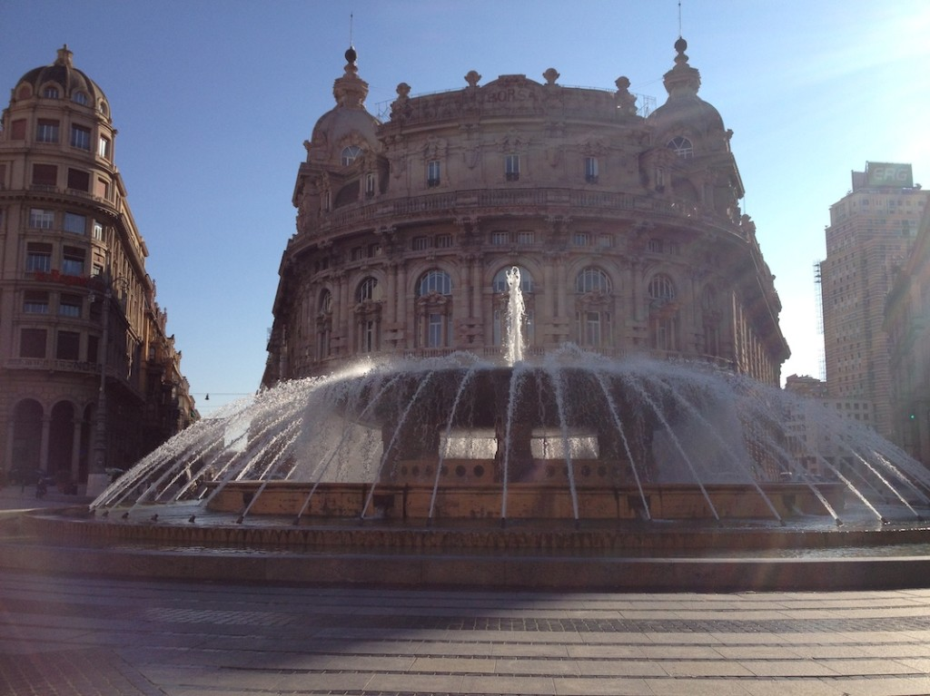 Piazza de Ferrari, Genoa.