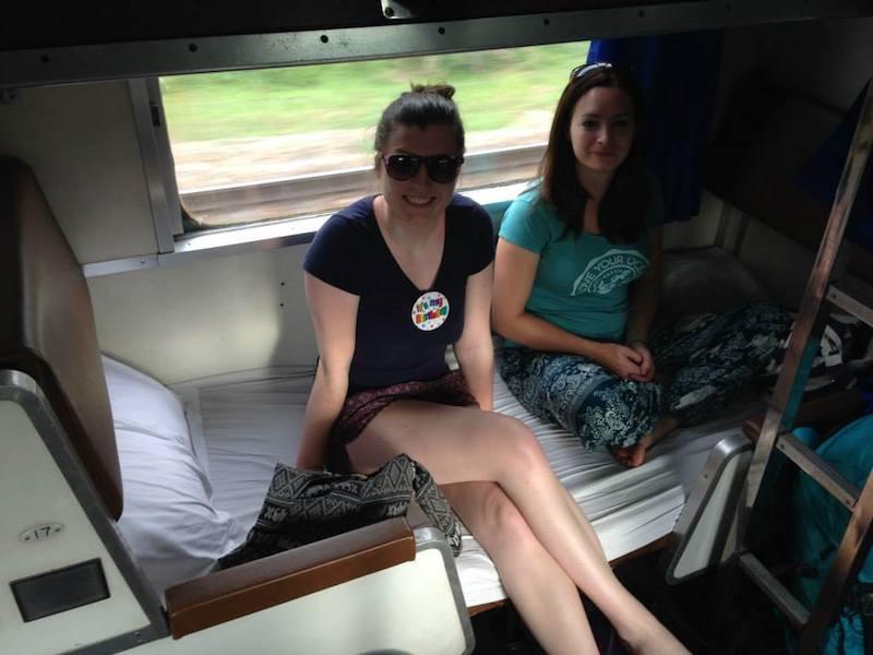 night train in Thailand