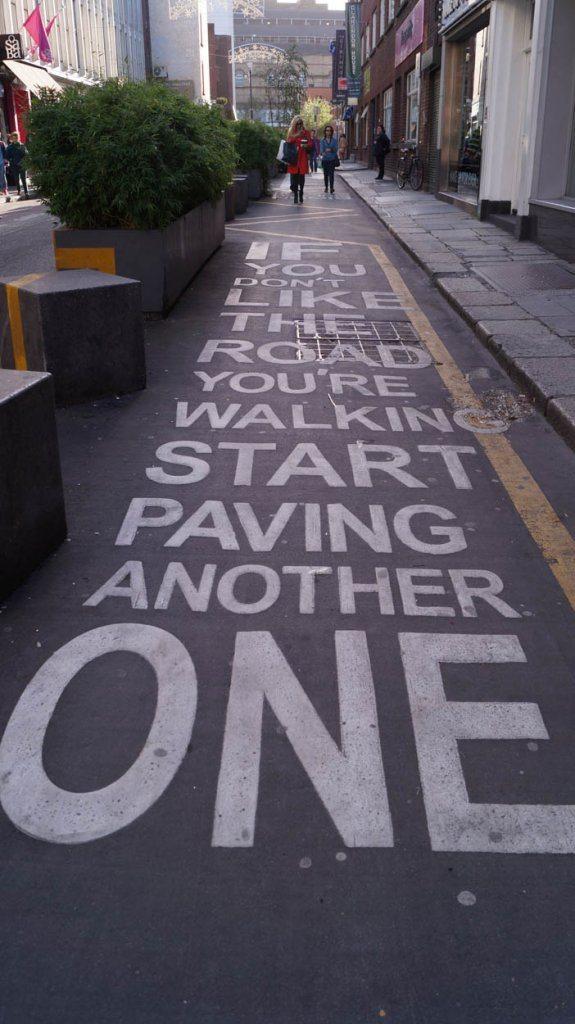 dublin pavement art