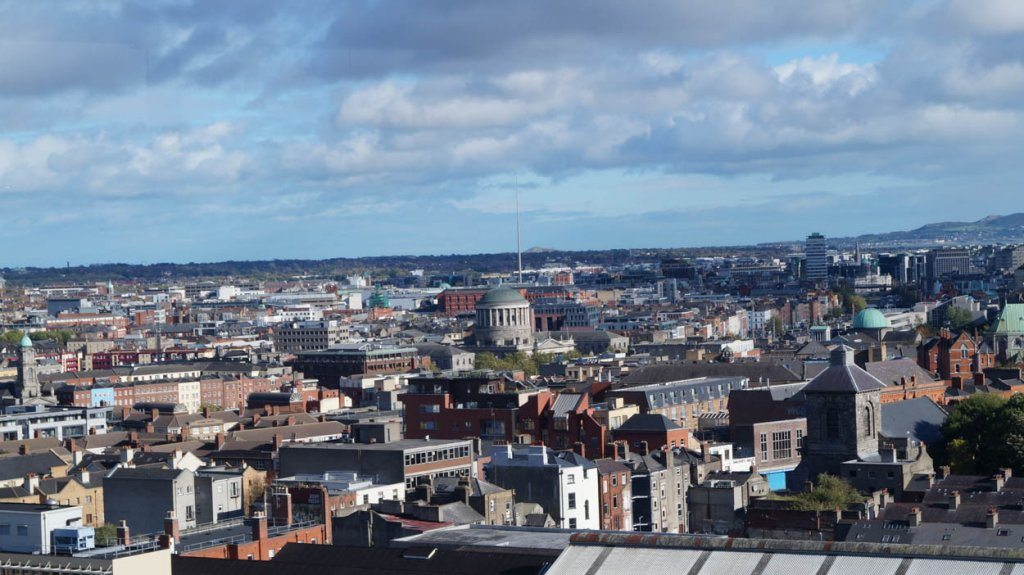 view from gravity bar, Dublin