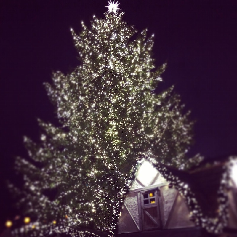 A beautiful Christmas tree at the Gendamenmarkt.
