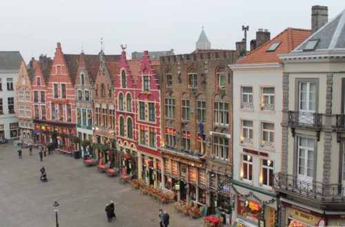 Gorgeous facades overlooking Markt, Bruges.