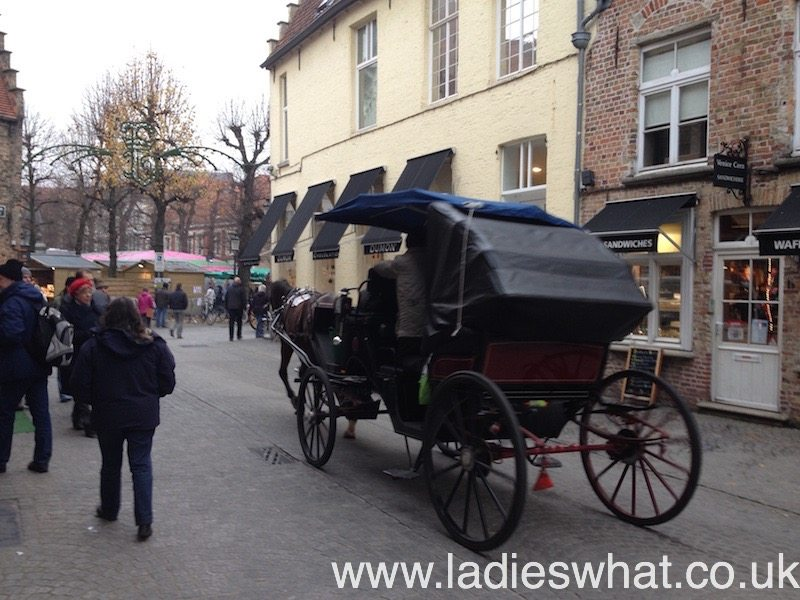 Why not take a horse-drawn carriage between the Christmas market squares?