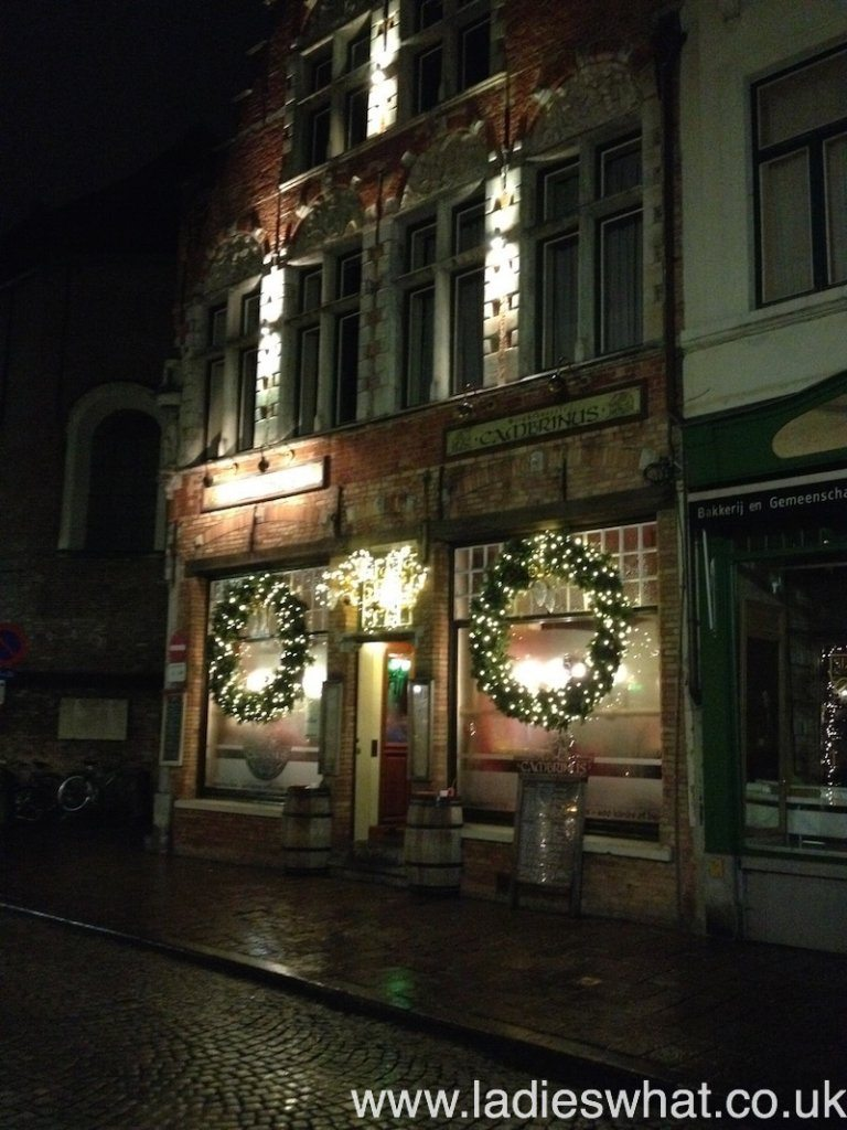 Christmas decorations done well in Bruges!