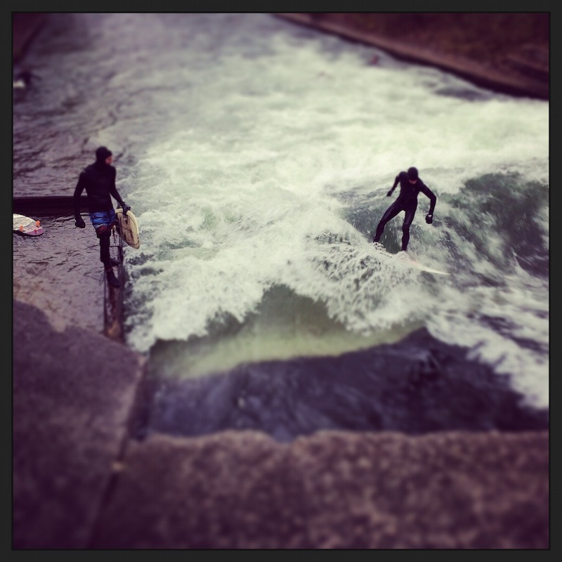Surfers in the river!