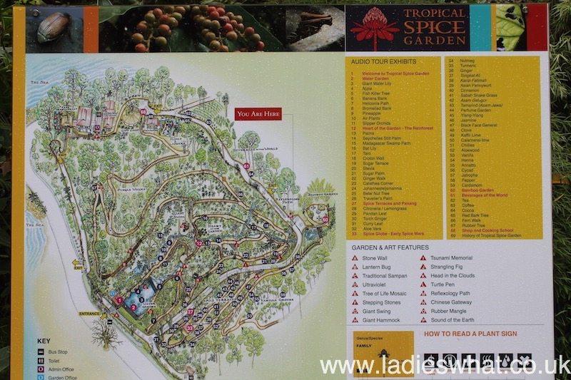 Tropical Spice Garden map