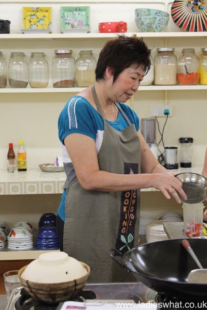 Nyonya cook Pearly Kee.