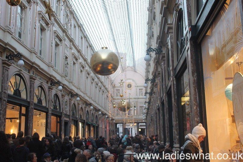 A bustling Galeries Royales, Brussels.