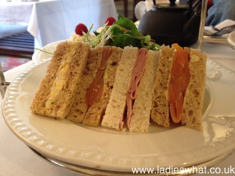 Delicious chunky sandwiches at The Angel Hotel, Abergavenny