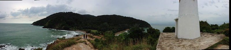 Panoramic view from the top of Koh Lanta Nature Reserve.