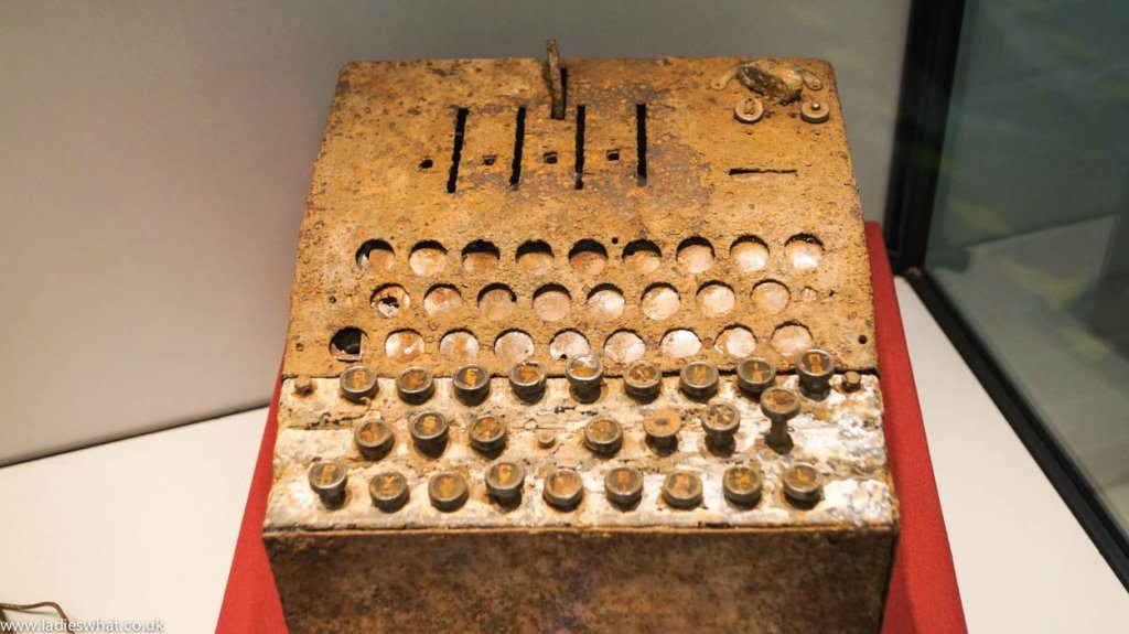 Bletchley Park rusted enigma