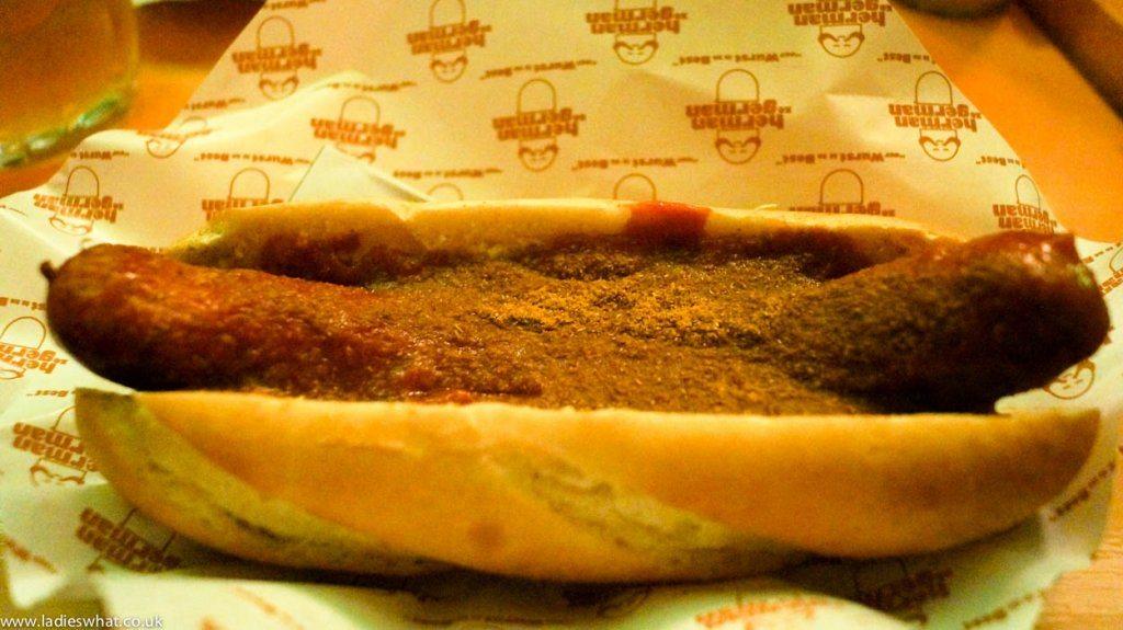 Currywurst at Herman Ze German