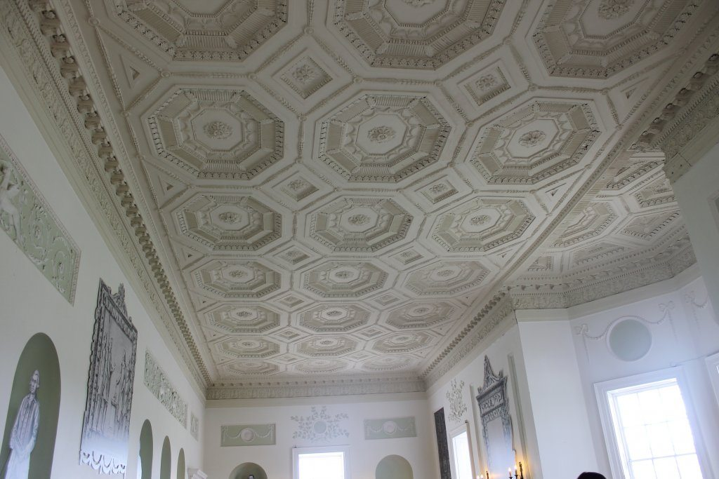 The Long Gallery's beautiful ceiling.