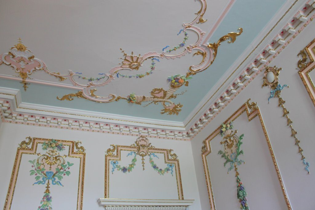 Croome Court painted walls and ceilings.
