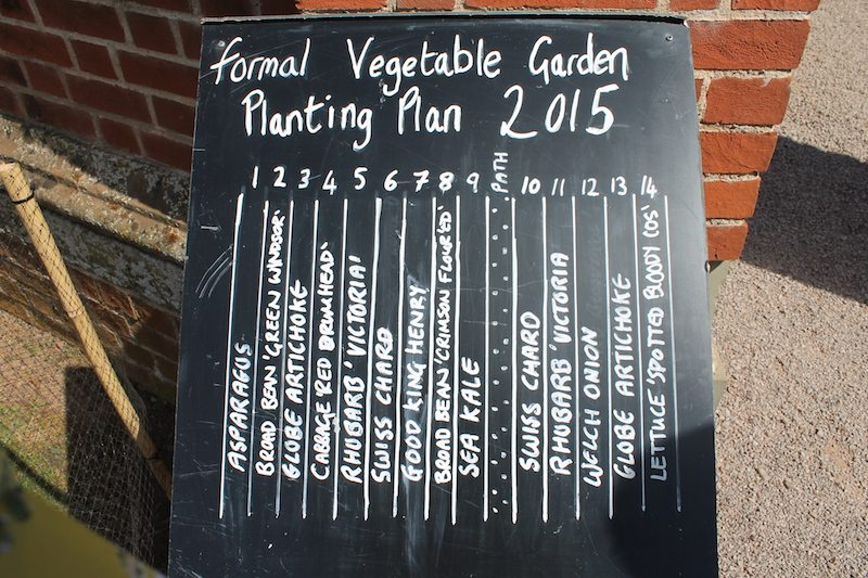 The working formal vegetable garden.