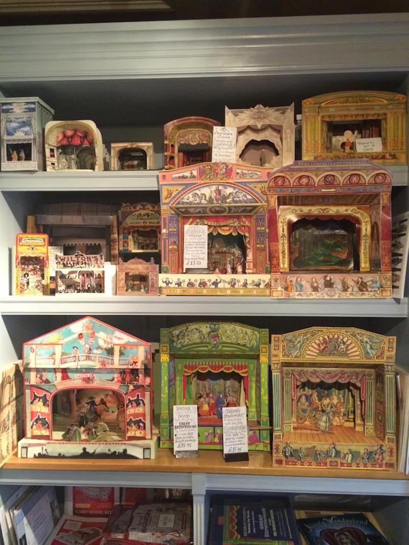 Paper theatres at Benjamin Pollock's Toyshop.