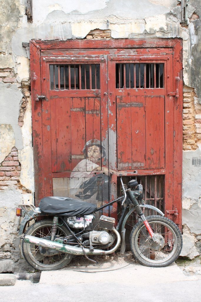 Boy on Motorbike Penang street art