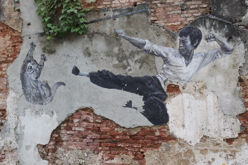The real Bruce Lee would never do this! Penang street art