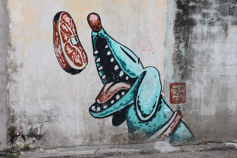 The dog street art georgetown penang