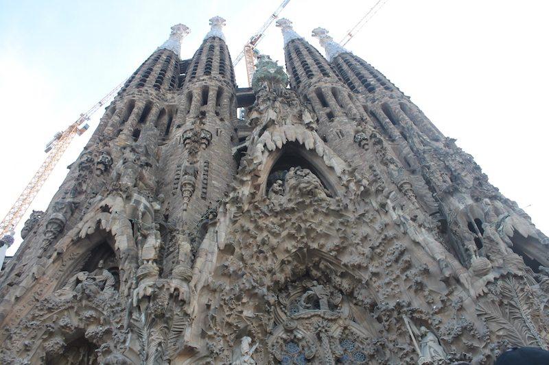 The nativity facade.