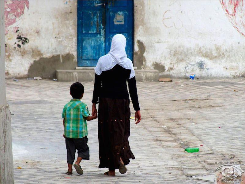 woman and son tunisia.