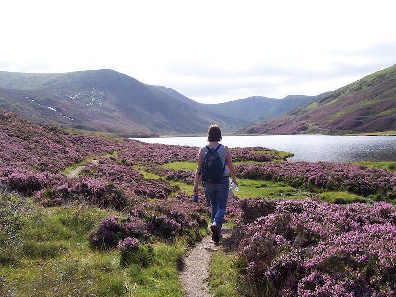 Walking Jock's Road, Loch Callater. Image credit Glen Trek.