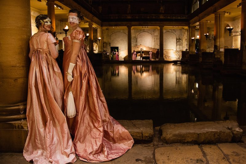The beautiful Roman Baths. [Credit Owen Benson and the Jane Austen Festival]