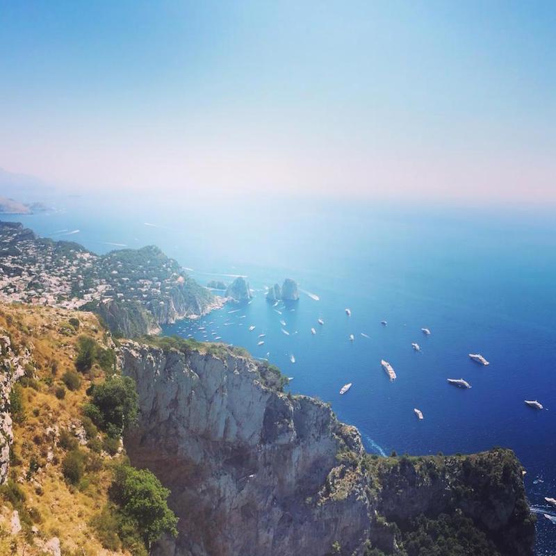 gorgeous views from the top of Mount Solaro, Capri.