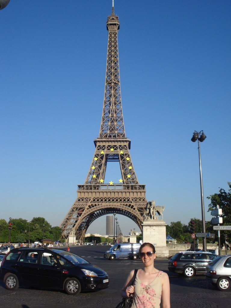 Visiting the Eiffel Tower while on my 'geek' getaway to Paris.