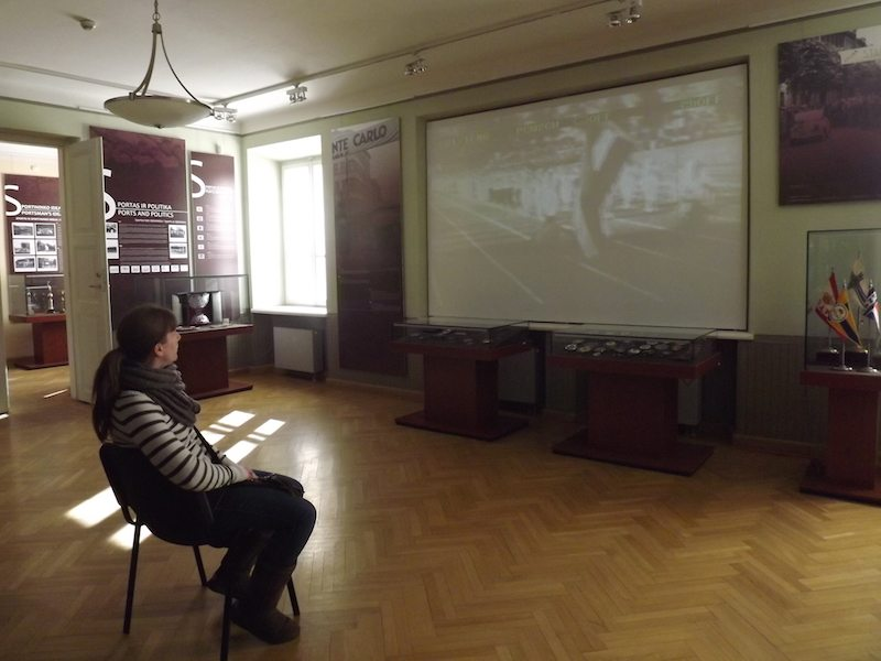 We had the whole of the museum to ourselves in Kaunas!