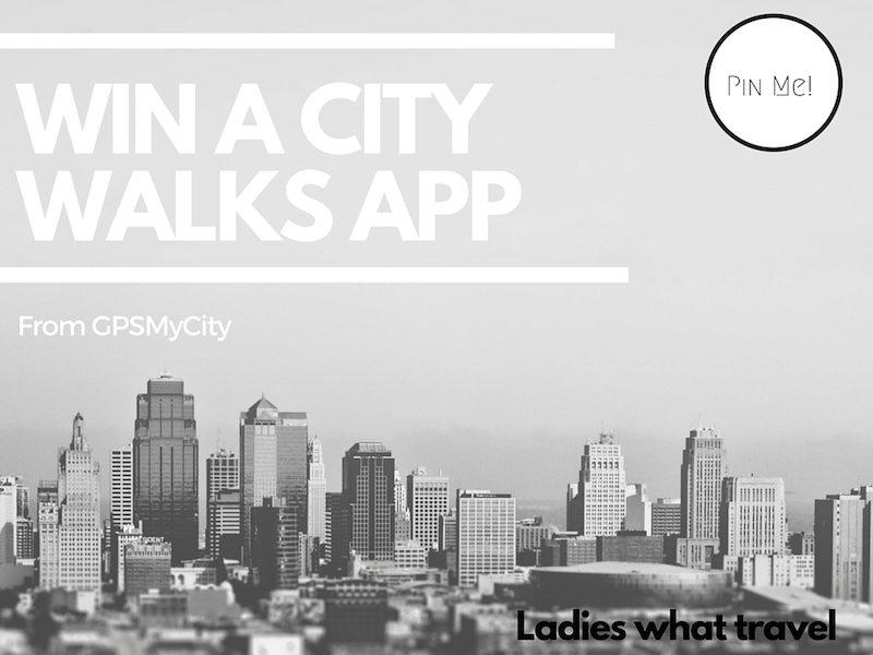 Win a city walks app