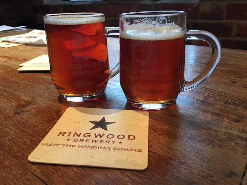 Take home tankards at Ringwood Brewery.