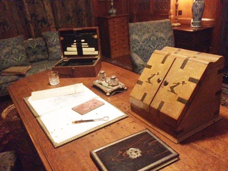 Antony Gibb's desk at Tyntesfield.