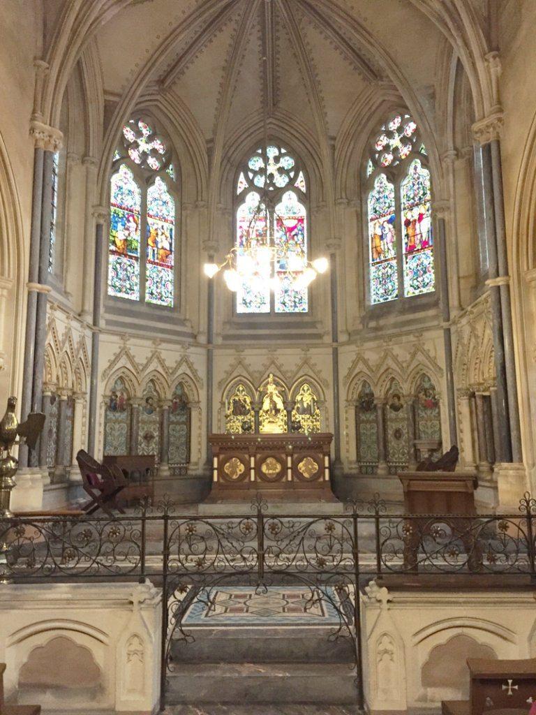 Inside Tyntesfield chapel.